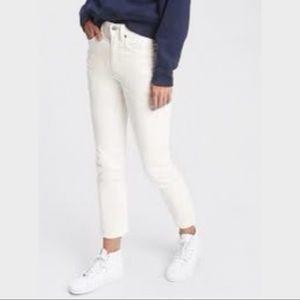 GAP Off White Cigarette High Rise Corduroy Jeans29